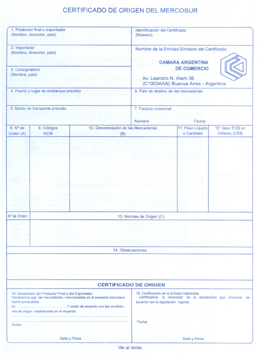 certificado de origen chile colombia: